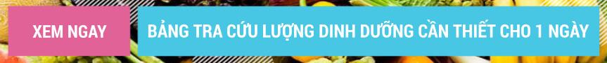 Bảng tra cứu lượng dinh dưỡng cần thiết cho 1 ngày