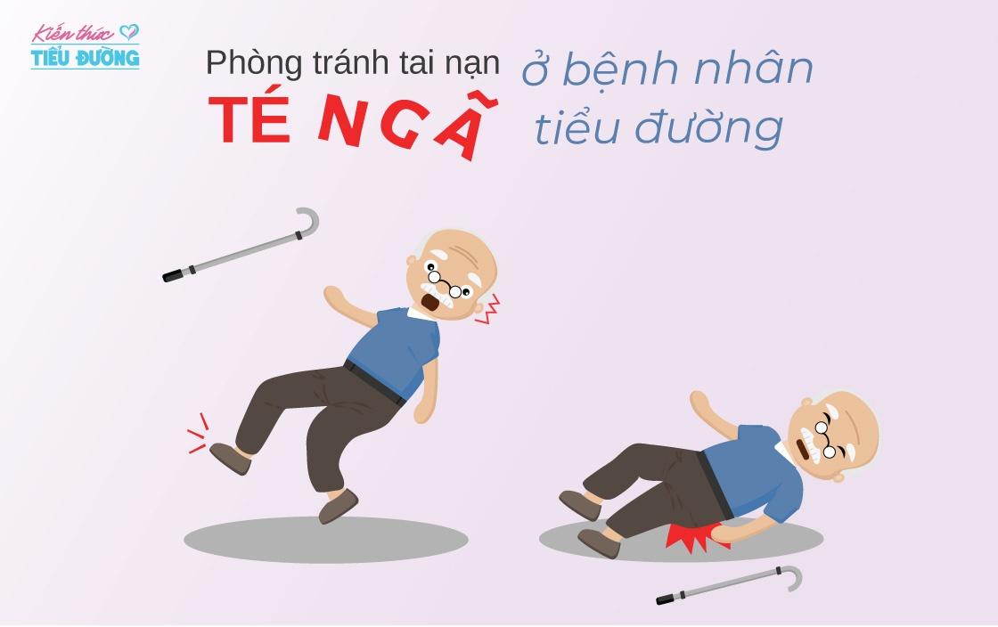 Phòng tránh tai nạn té ngã ở bệnh nhân tiểu đường