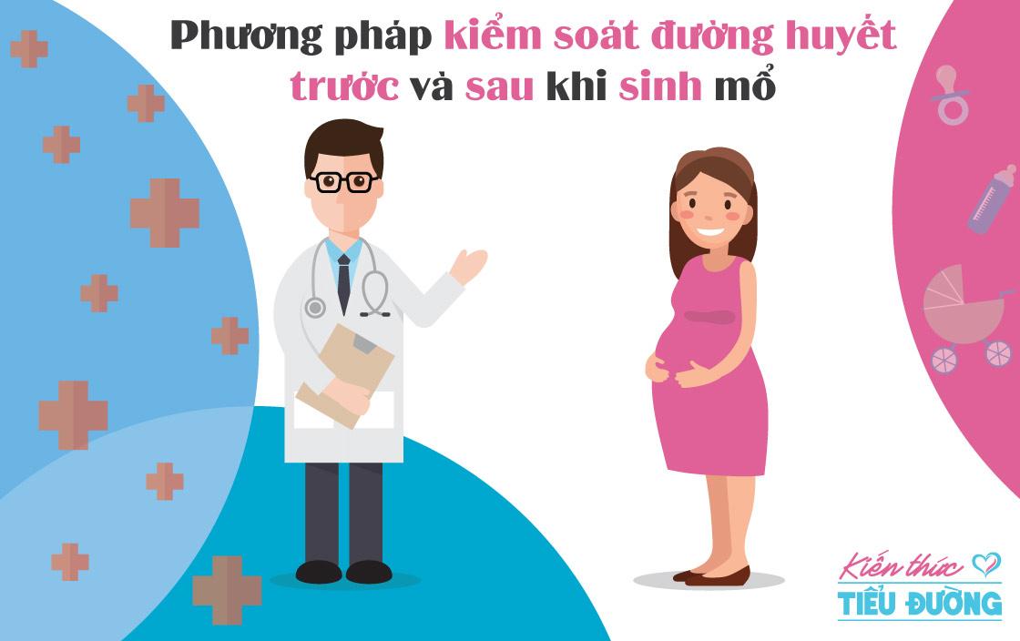 Phương pháp kiểm soát đường huyết trước và sau khi sinh mổ