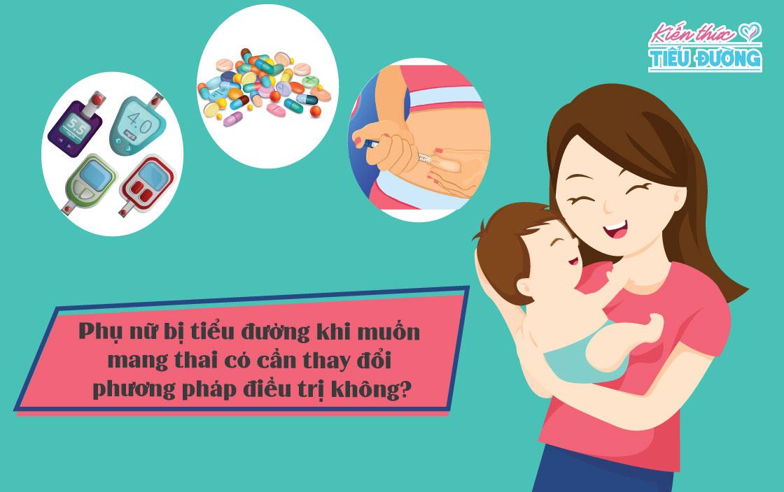 Phụ nữ bị tiểu đường khi muốn mang thai có cần thay đổi phương pháp điều trị không? 4