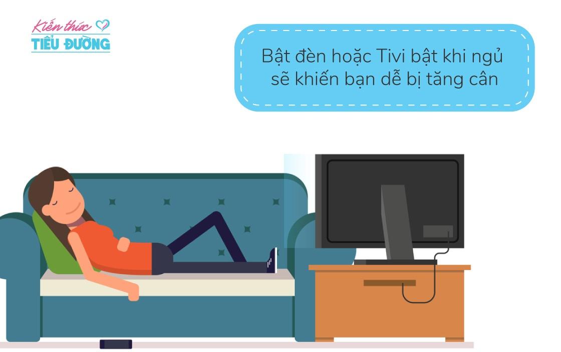 Bật đèn hoặc tivi bật khi ngủ sẽ khiến bạn dễ bị tăng cân 2